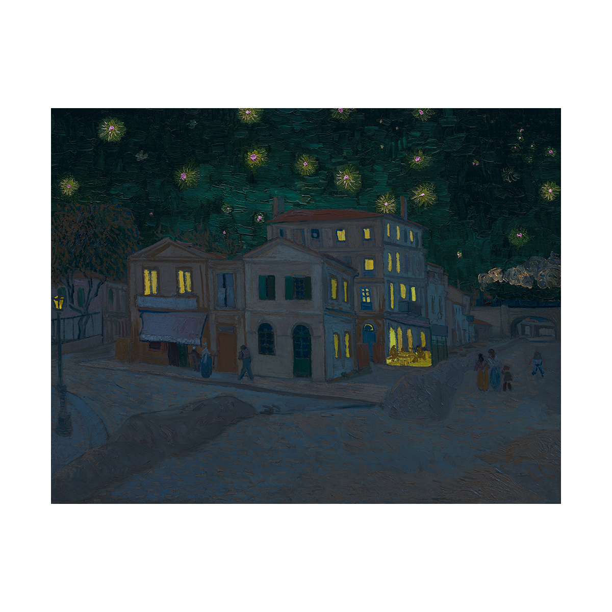 A night time installment of van Gogh's The Street or The Yellow House