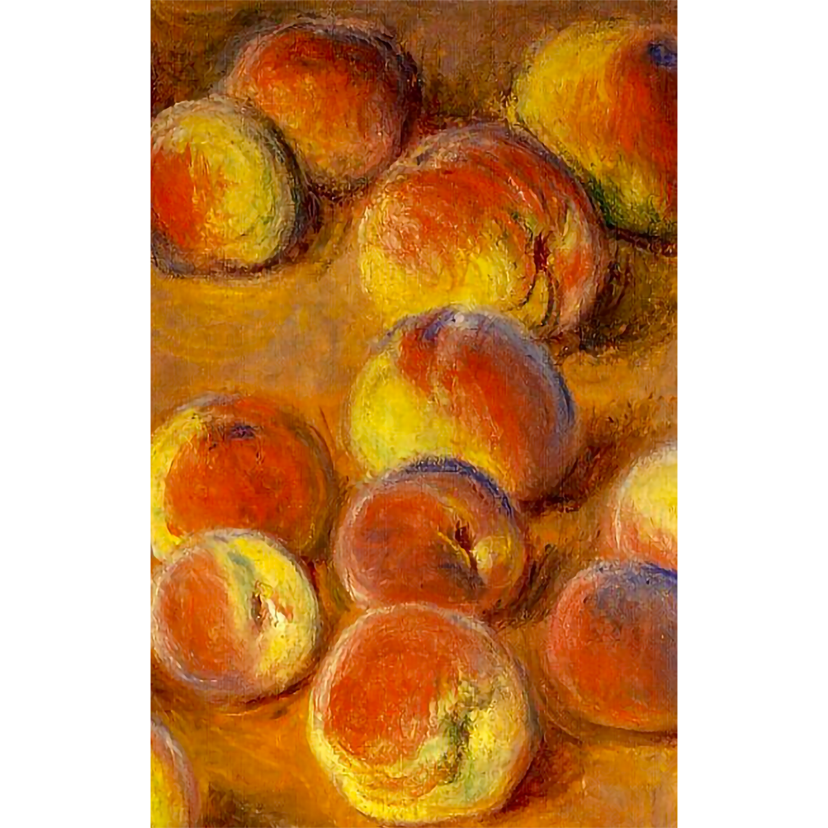 Still life painting of Peaches