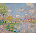 Repainting of Spring by the Seine by Claude Monet